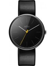 Braun BN0172BKBKG Męskie klasyczne smukły czarny skórzany pasek zegarka