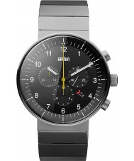 Braun BN0095BKSLBTG Mężczyźni Prestige srebrny zegarek chronograf tone