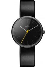 Braun BN0172BKBKL Męskie klasyczne smukły czarny skórzany pasek zegarka