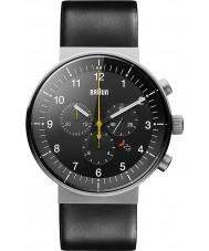 Braun BN0095SLG Mężczyźni Prestige czarny zegarek chronograf