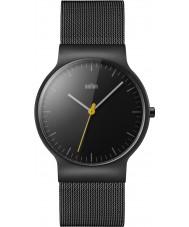 Braun BN0211BKMHG Męskie klasyczne szczupły stal czarna bransoletka zegarek