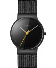 Braun BN0211BKMHL Męskie klasyczne szczupły stal czarna bransoletka zegarek