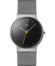 Braun BN0211BKSLMHG Męskie klasyczne szczupły srebrna siatka stalowa bransoletka zegarek