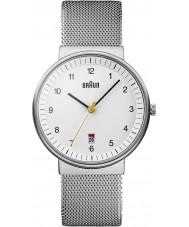 Braun BN0032WHSLMHG Srebrny biały mężczyzna zegarek