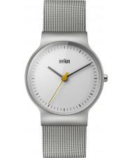 Braun BN0211WHSLMHL Klasyczna damska schudnięcie srebro stal zegarek bransoleta mesh