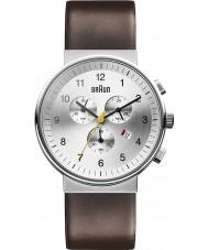 Braun BN0035SLBRG Mens watch srebrny brązowy