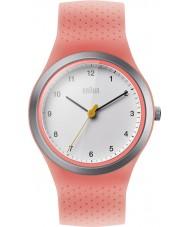 Braun BN0111WHPKL sportowe damskie neon brzoskwini silikonowy pasek zegarka