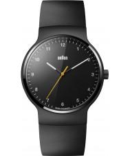 Braun BN0221BKBKG Mężczyźni Prestige Slim czarna gumowa pasek zegarka