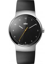 Braun BN0221BKSLBKG Mężczyźni Prestige Slim czarna gumowa pasek zegarka