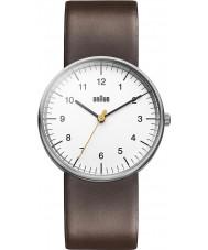 Braun BN0021WHBRG Mężczyzna biały brązowy zegarek