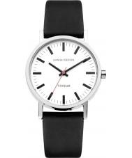 Danish Design Q12Q199 Mens czarny skórzany pasek zegarka