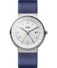 Braun BN0142WHBLG Mężczyzna biały niebieski zegarek